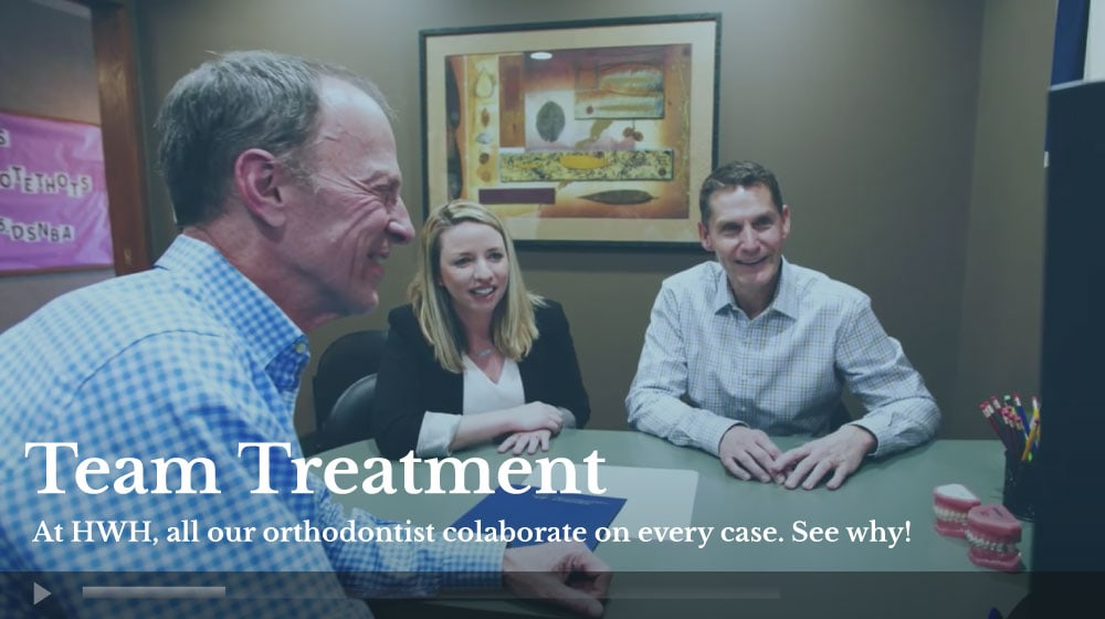 HWH video foreground team treat - Leave Us A Review - HWH Orthodontics