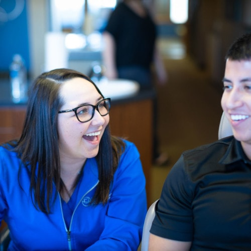 Staff Candids HWH Ortho 2020 Topeka KS Orthodontist 155 500x500 - What Does Team-Treating Mean for Our Patients?